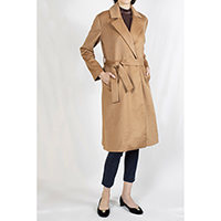 Cashmere Wrapped Long Coat with Belt