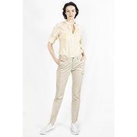 T-1906037-1 Top: Linen/Cotton Shirt with Roll Up Sleeves, T-1906037-2 Pant: Cotton Twill Cargo Pants