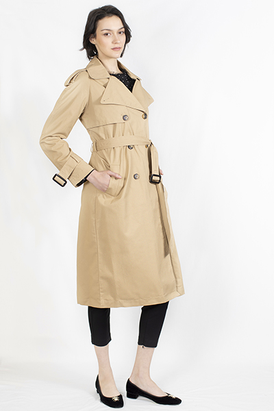 Cotton Trenchcoat with Belt