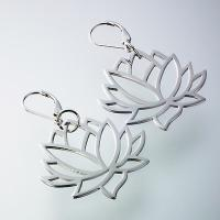 SILVER EARRING W/LOTUS SIGN