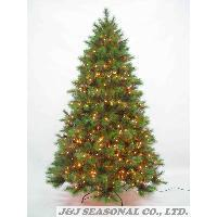 7.5' PVC & BRISTLE Mixed Tree w/76 pinecone