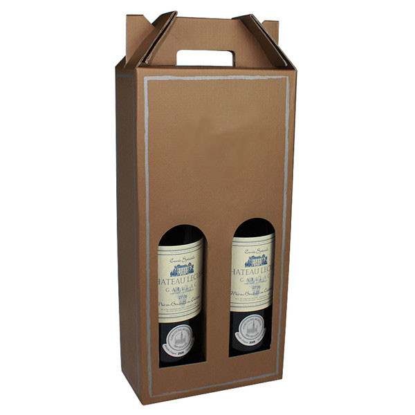 Custom Corrugated Wine Bottle Boxes With Window