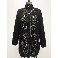 Boilded Wool Cardi-coat with Embellishment