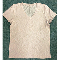 Ladies V-neck Knitted Tee