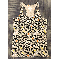 Ladies Knitted Allover Print Tank