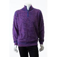 Men's Pure Merino Wool Partial Zip Stand Collar Cable Knitted Sweater