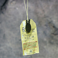 Denim Hangtag (Vintage, Sewed, PU Leather Patch)