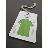 Hangtag (Lamination, Fabric Attached, Safety Pin)
