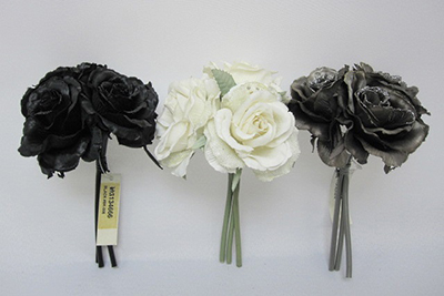 7.50 inches / 19CM ROSE BOUQUET X 3.