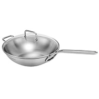 Vetro Wok with Long Handle 32cm