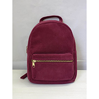 Cherry Red Corduroy Backpack, HC-180404