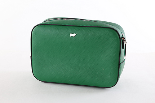 Forest Green Leather Ladies' Zippered Closure Small Cross Body Bag