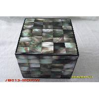 Black Square Mother of Pearl Jewelry Box