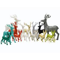 12/18 inches Glittered Reindeer