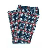 Wool Plaid Pants