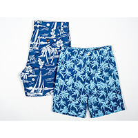 Cotton Stretch Printed Shorts