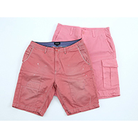 Cotton Stretch Casual Shorts, Garment Dyed