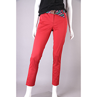 Cotton Stretch Cropped Pants, Printed, WNR030