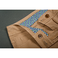 5 Pocket Pants with Detailed Interior Waistband