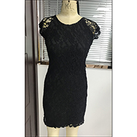 Textured Lace Lined Dress, LK004