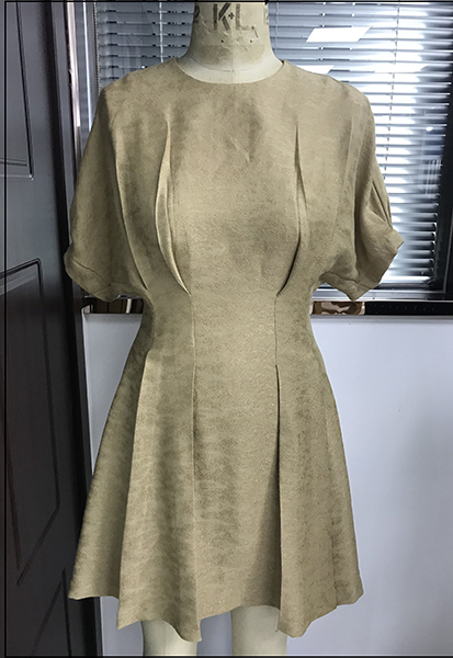 Puff Sleeve Dress with Princess Seam Details