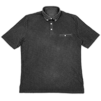 Knit Polo with Woven Collar, 002