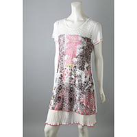 Lace Printing Dress, KR104