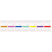 RFID Sticker - Color by Size