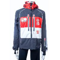 Navy / Red / White Men's Ski Woven Jacket Waterproof Winter Snow Warm Outdoor Wear S~2XL