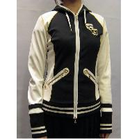 Black / White Ladies' Fashion Soft-shell Exercise Casual Knitted Jacket 36~46