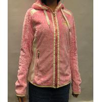 Pink / White Ladies' Girl's Hairy Fleece Long Sleeve Soft Cute Knitted Jacket 36~46