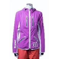 Grape Woman's Girl's Outer Jacket Slim Fit Waterproof Rain Windbreaker Adjustable Hood Woven Wear
