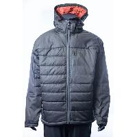 Grey Men's Insulated Long-sleeved Light Weight Warm Loose Windproof Woven Jacket