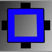Square Shape With Middle Square Hole Blue Led Backlight