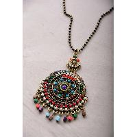 Gertie Ethnic Pattered Necklace