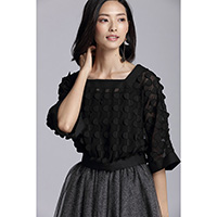 Prissy Bubbly Top Black