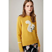 Squirrel Yellow Sweater