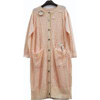 LADIES' FASHIONABLE LONG CARDIGAN WITH PATCH WORK