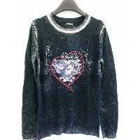LADIES' FASHIONABLE PULLOVER WITH APPLIQUE PATCH WORK