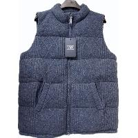MEN'S CABLE DOWN FEATHER FILLED VEST, TE-DM001
