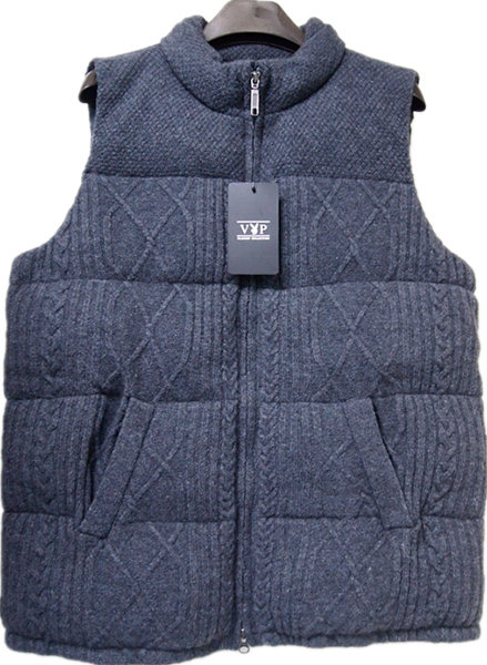MEN'S CABLE DOWN FEATHER FILLED VEST
