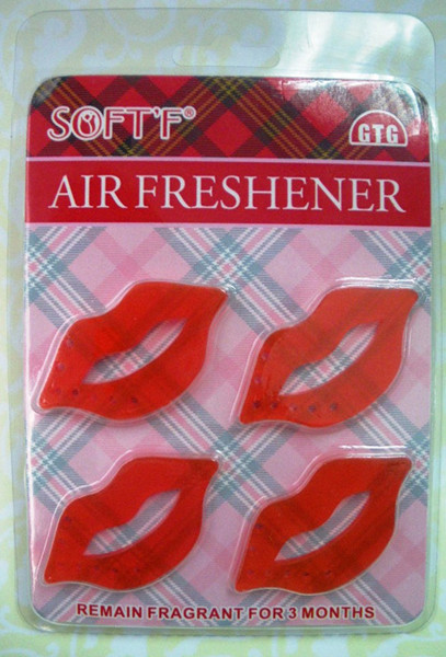 incheshot Lip inches Scented Charm/air Freshener Pack