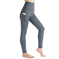Women's High Waist Pocket Yoga Pants, Tummy Control Workout Running 4-Way Stretch Yoga Leggings
