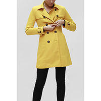 Double Button Trench Coat