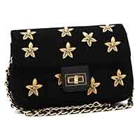 Stars Embroidery Flapover Clutch, ST-99190R1