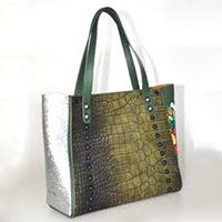 Digital Printed PU Tote Bag