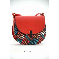 Geometric flap crossover bag