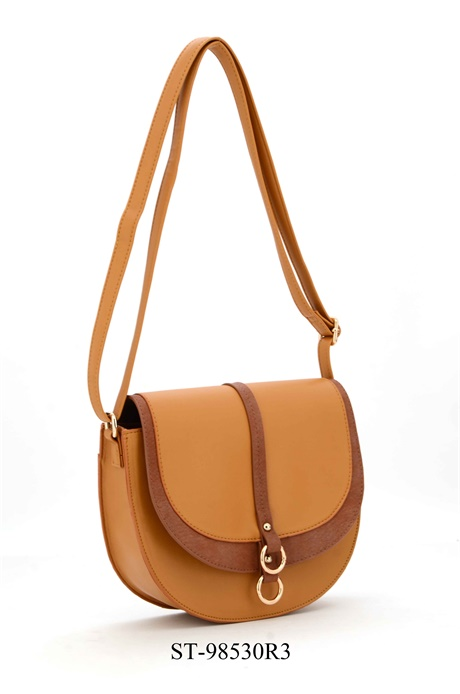 Dual flap crossover bag