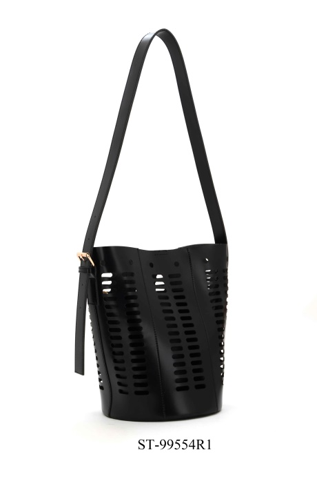 Laser cut fashion shoulder bag