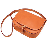 Leather Saddle Crossbody